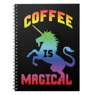 Coffee Is Magical - Funny Novelty Caffeine Unicorn Notebook