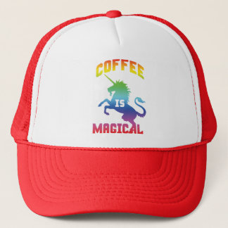 Coffee Is Magical - Funny Novelty Caffeine Unicorn Trucker Hat