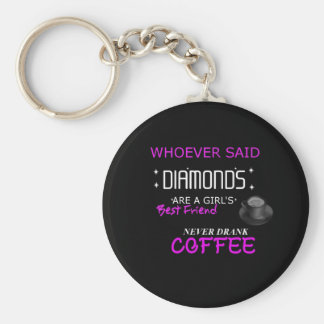 Coffee Is My BFF Button Keychain