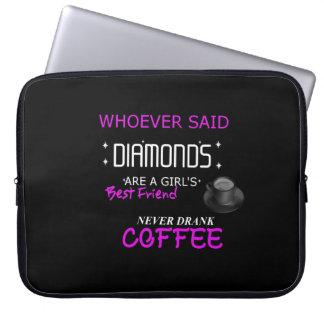 Coffee Is My BFF Neoprene Laptop Sleeve