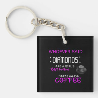 Coffee Is My BFF Single Sided Keychain
