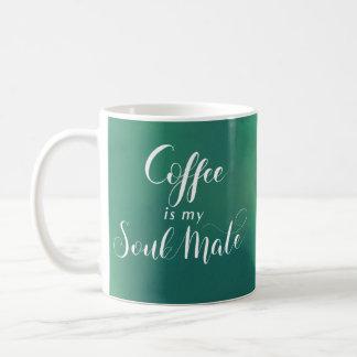 Coffee is my Soul Mate Green Watercolot Coffee Mug