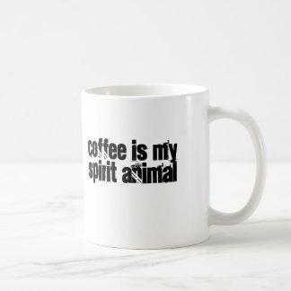 Coffee is my Spirit Animal Basic White Mug