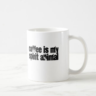 Coffee is my Spirit Animal Classic White Coffee Mug