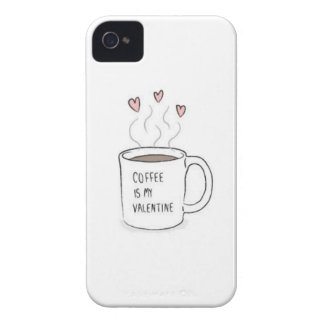 Coffee is my Valentine case iPhone 4 Cover
