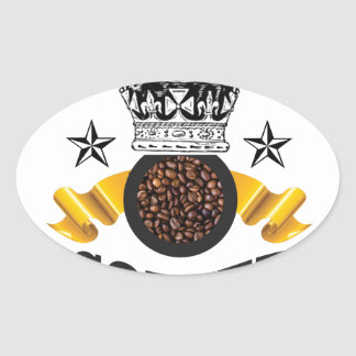 coffee is the top crop oval sticker