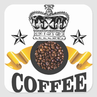 coffee is the top crop square sticker