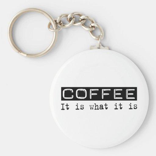 Coffee It Is Keychain