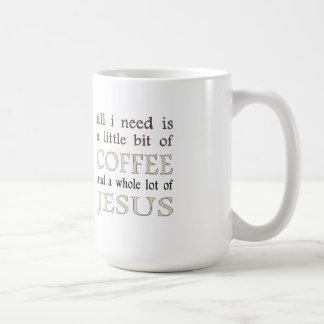 Coffee & Jesus Coffee Mug