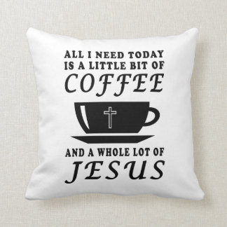 coffee jesus pillow