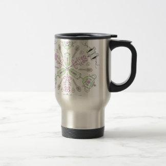 Coffee kaleidoscope travel mug