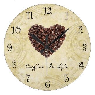 Coffee Kitchen Clock