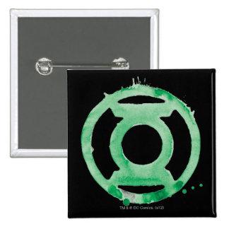 Coffee Lantern Symbol - Green 2 Inch Square Button