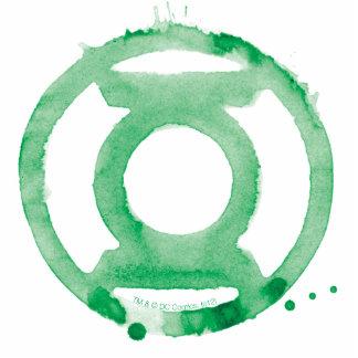 Coffee Lantern Symbol - Green Standing Photo Sculpture