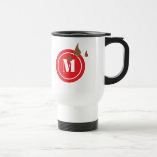 Coffee Leak Monogram Red Circle Mug