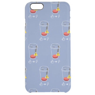 Coffee level low clear iPhone 6 plus case