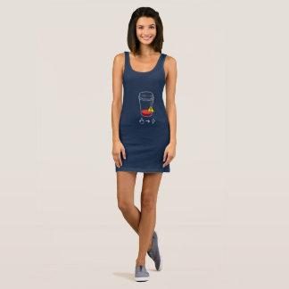 Coffee level low sleeveless dress