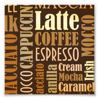 Coffee Lingo Typography Photograph