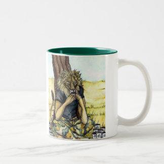 Coffee Lion-Serious Coffee 2 Tone Two-Tone Coffee Mug