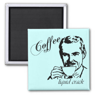 Coffee liquid crack retro refrigerator magnet