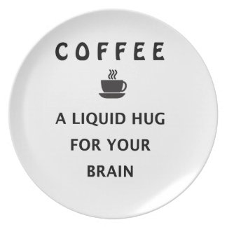 Coffee Liquid Hug For Your Brain Plate