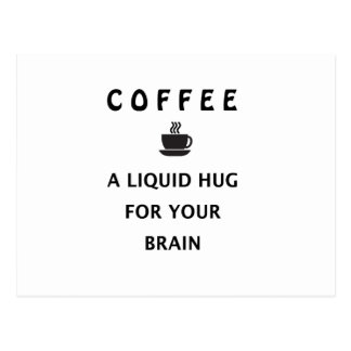 Coffee Liquid Hug For Your Brain Postcard
