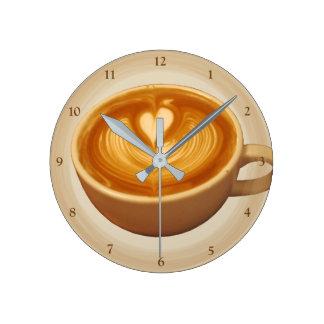 Coffee Love Round Clock