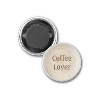 Coffee Lover 1 Inch Round Magnet