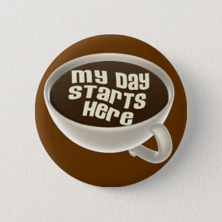 Coffee Lover 2 Inch Round Button