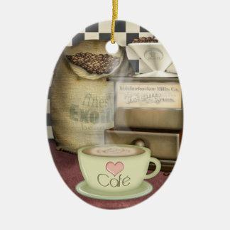 Coffee Lover Café Ceramic Ornament