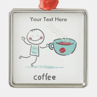 Coffee Lover Metal Ornament