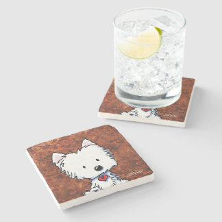 Coffee Lover Westie Stone Coaster