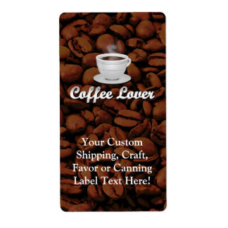 Coffee Lover, White Cup/Brown Beans