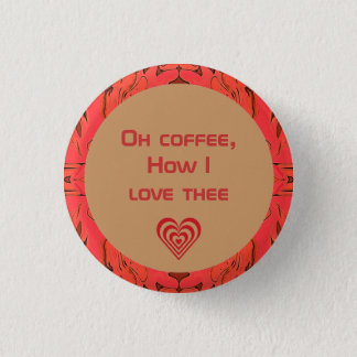 coffee lovers button