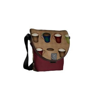Coffee Lovers - Coffee Cups - Tan Commuter Bag