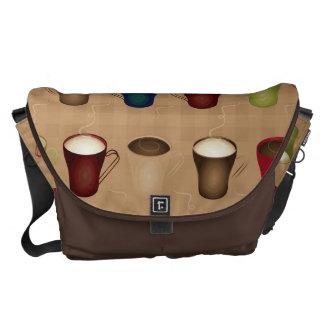Coffee Lovers - Coffee Cups - Tan Messenger Bag