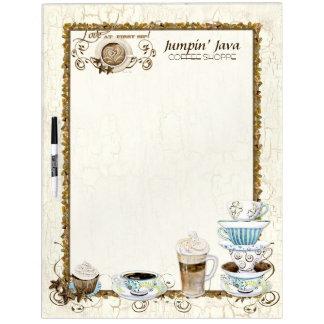 Coffee Lovers Custom Bistro Restaurant Menu Board Dry Erase Boards