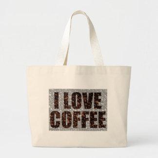 Coffee lovers jumbo tote bag