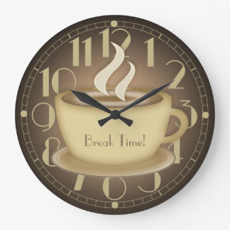 Coffee Lovers Personalized Large Clock