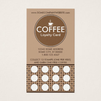 coffee loyalty stamp card