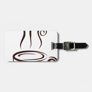 coffee luggage tag