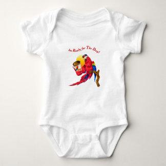 Coffee Macaw Baby Bodysuit