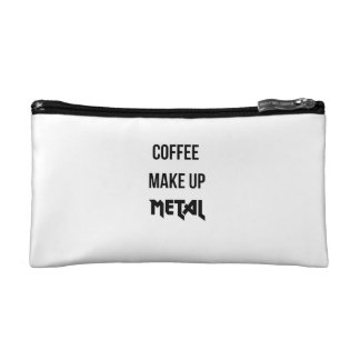 Coffee Make Up Metal Cosmetic Bag