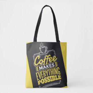 Coffee makes everything possible cross body bag