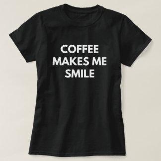 Coffee Makes Me Smile T-Shirt
