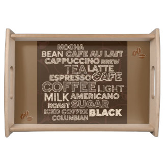 Coffee Menu Serving Tray
