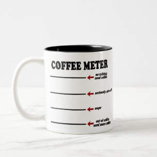 Coffee Meter (The Original Coffee Meter Mug!) Two-Tone Coffee Mug