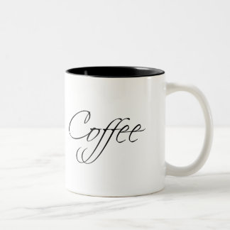Coffee Modern Typography Two-Tone Coffee Mug