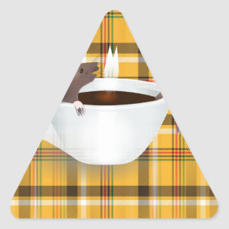 coffee mouse triangle sticker