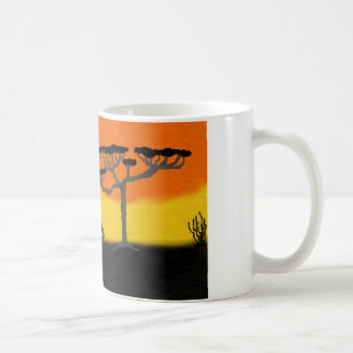 coffee mug African sunset